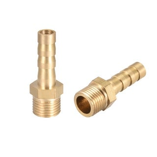 "Brass Barb Hose Fitting Connector Adapter 6mm Barbed x 1/8"" G Male Pipe 2pcs - 1/8"" G x 6mm"