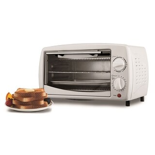 Brentwood Ts-345W Stainless Steel 4 Slice Toaster Oven -White