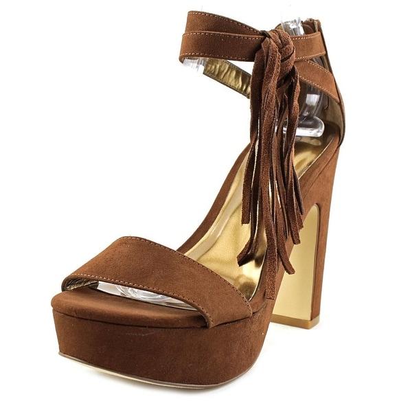 Carlos by Carlos Santana Audrina Women Open Toe Canvas Brown Sandals