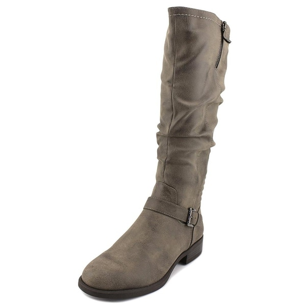White Mountain Livery Women Round Toe Synthetic Gray Knee High Boot