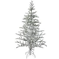 5' Flocked Alpine Coral Artificial Christmas Tree - Unlit