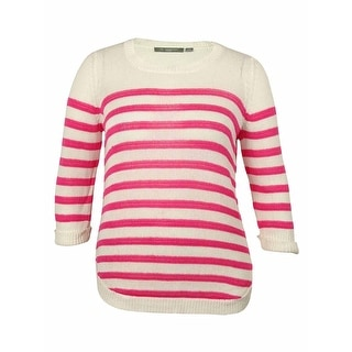 NY Collection Women's Cotton Striped Sweater