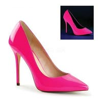 Pleaser Women's Amuse 20 Neon Fuchsia Patent