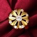 Blossoming Gold Crystal Ring - Thumbnail 3