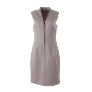 T Tahari Womens Miri Sleeveless Knee-Length Wear to Work Dress - 14