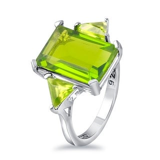 Link to Multi Color Gemstones 925 Sterling Silver Octagon, Triangle 3-Stone Rings by Orchid Jewelry Similar Items in Rings