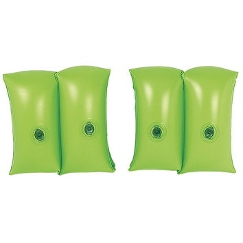 Set of 2 Lime Green Inflatable Swimming Pool Arm Floats for Kids 3-6 Years