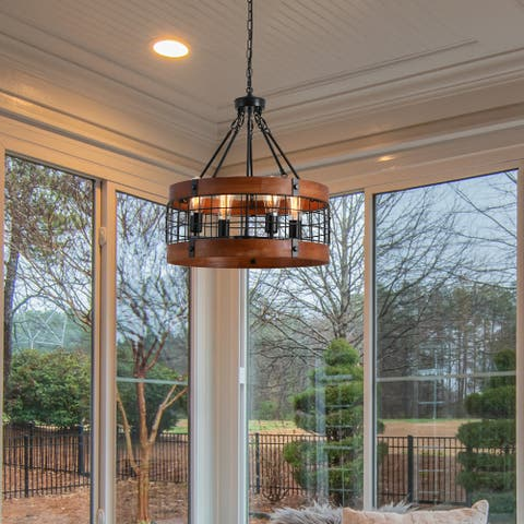 Farmhouse 5-light Kitchen Island Chandelier for Dining Room