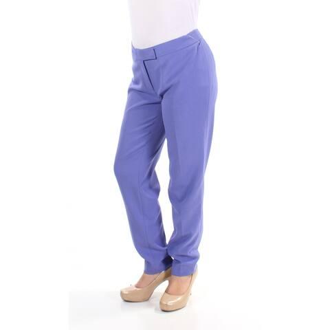 ANNE KLEIN Womens Purple Pants Size 4
