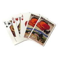 Sebastopol CA Home of the Gravenstein - Vintage Ad (Poker Playing Cards Deck)