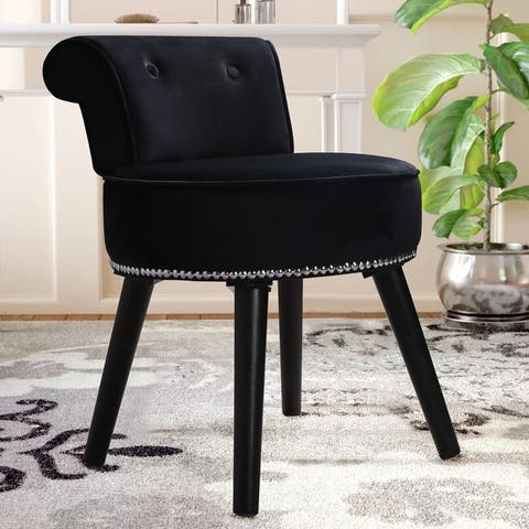 Veikous Vanity Stool Chair Makeup with Low Back