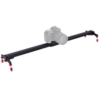 Costway 32'' Camera Video Slider Track Stabilizer Rail Ball-Bearing Adjustable Leg w Bag
