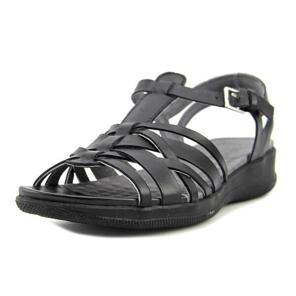 Softwalk Taft Women N/S Open Toe Leather Black Gladiator Sandal