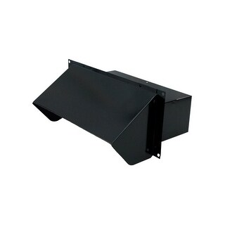 """Air King WC310B 3.25"""" x 10"""" Black Painted Steel Wall Cap with Spring Loaded Back Draft Damper - N/A"""
