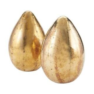 Dimond Home 178-024/S2 German Silver Metallic Eggs - Set of 2