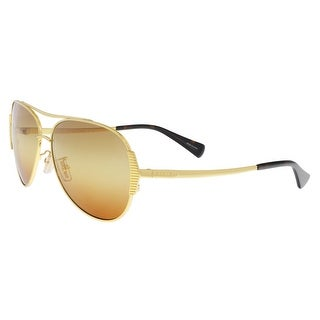 Coach HC7067 9238W8 Gold/Dark Tortoise Aviator Sunglasses - 59-14-140