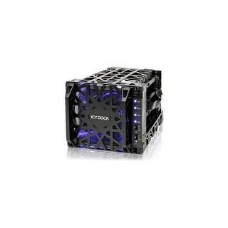 Icy Dock MB074SP-1B Icy Dock Black Vortex MB074SP-1B Drive Enclosure Internal - Black - 4 x Total Bay - 4 x 3.5 Bay -