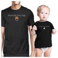 Master Builder Demolition Expert Funny Dad and Baby Matching Shirts