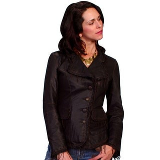 Scully Western Jacket Womens Fitted Lamb Leather Button L954