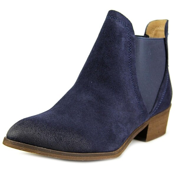 Splendid Henri Women Round Toe Suede Blue Ankle Boot