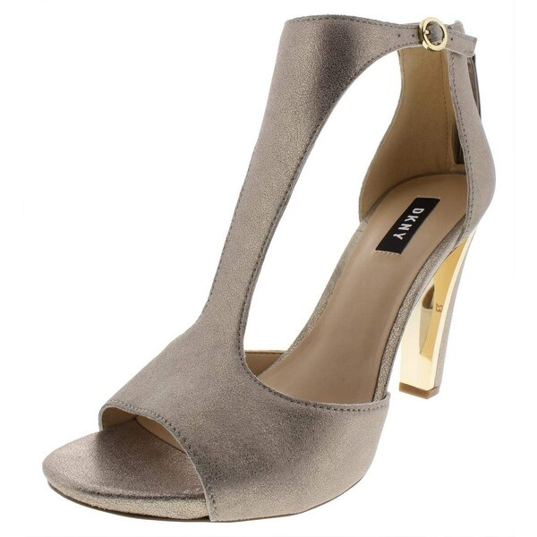 9fec7808cf7 DKNY Womens Colby Leather Peep Toe Casual Ankle Strap Sandals