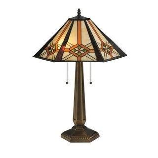 """Meyda Tiffany 119659 25"""" H Crosshairs Mission Table Lamp - n/a"""