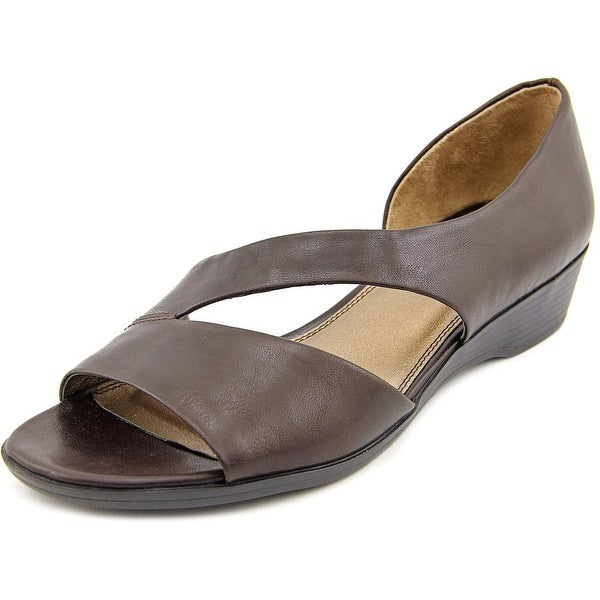 Life Stride Magda Women Open Toe Synthetic Brown Sandals