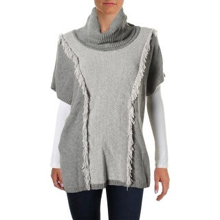 Lafayette 148 Womens Pullover Sweater Wool Fringe