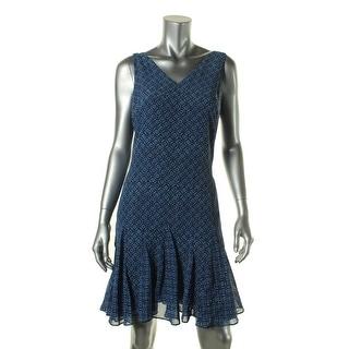 Lauren Ralph Lauren Womens Casual Dress Chiffon Sleeveless