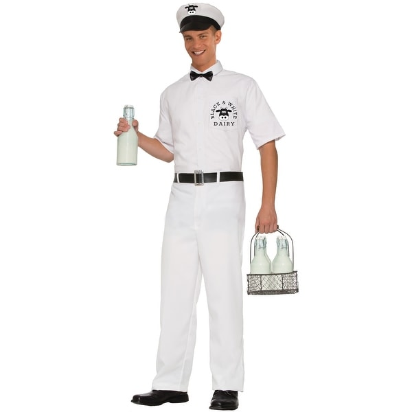 Forum Novelties 50's Milkman Adult Costume (XL) - White - X-LARGE