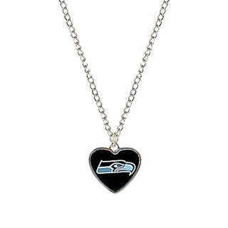 Cleanlapsports Seattle Seahawks Heart Shaped Pendant Necklace