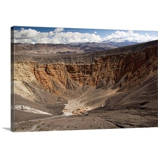 """""""Ubehebe Crater with snow capped mountains in background, California"""" Canvas Wall Art"""