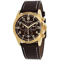 Swiss Army Men's Chrono Classic 241647 Brown Dial Watch