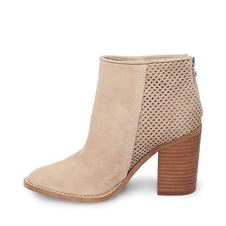 Steve Madden Womens replay Suede Almond Toe Ankle Fashion Boots
