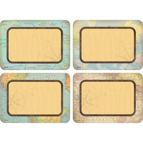 Travel the Map Name Tags/Labels - Multi-Pack - One Size
