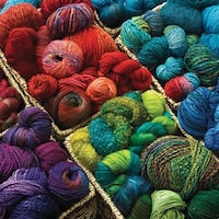 Outset Media Plenty of Yarn 1000 Piece Photo Jigsaw  Puzzle - Multicolor