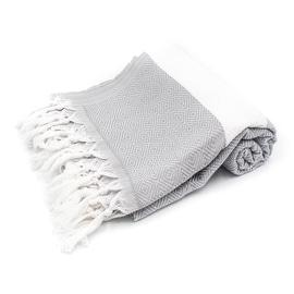 Diamond Stripe Turkish Towel,Beach Towel,Bath Towel,Pool Towel,Yoga Towel,Large Towel,Fouta,Eco Friendly,Gray