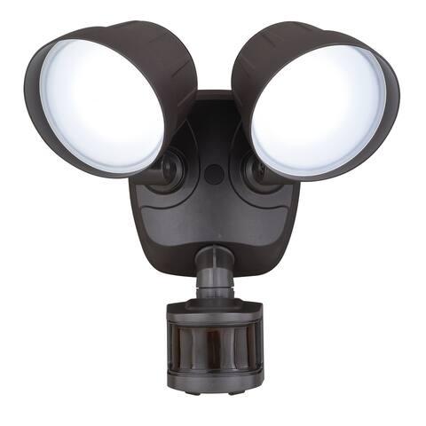 Vaxcel Delta Dualux? 2-Level LED Motion Sensor Security Light Bronze