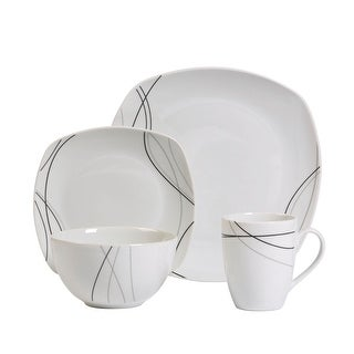 Link to Alec 16pc Soft Square Porcelain Dinnerware Set Similar Items in Dinnerware