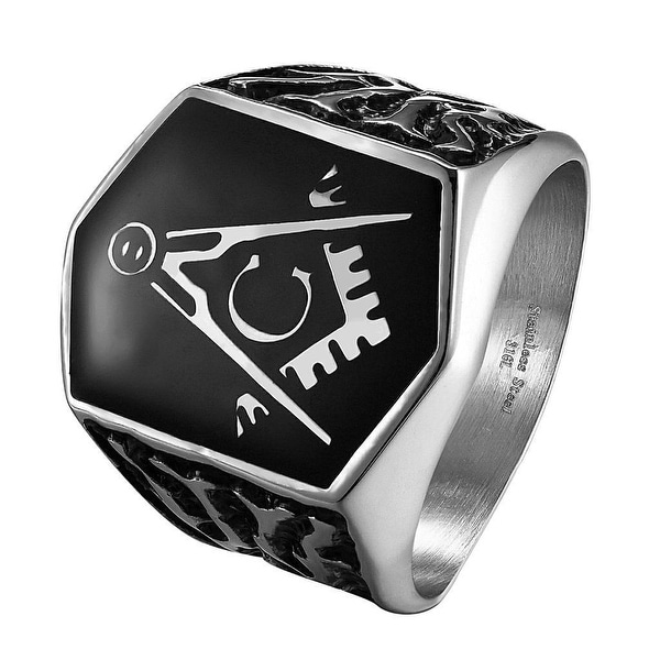 Freemason Masonic G Ring Mens Stainless Steel Custom Style Mason Master