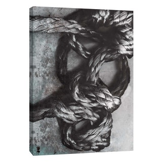 """PTM Images 9-105845  PTM Canvas Collection 10"""" x 8"""" - """"Knotted Rope Study 2"""" Giclee Abstract Art Print on Canvas"""