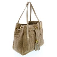 HS 2025 TP AGAPE Taupe Leather Tote/Shopper Bags - 13-11-6