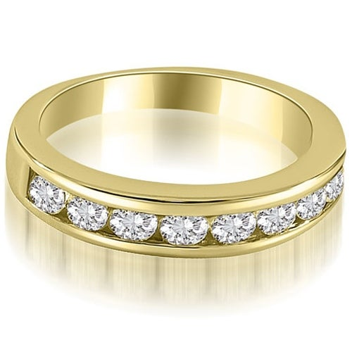 1.15 cttw. 14K Yellow Gold Classic Channel Set Round Cut Diamond Wedding Ring