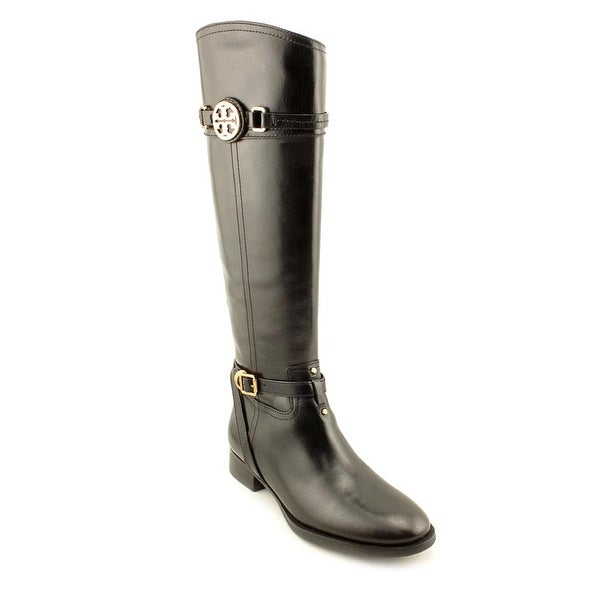 Tory Burch Calista Round Toe Leather Knee High Boot