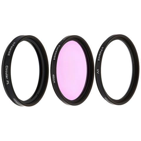 Polaroid Optics 46mm 3 Piece Camera Lens Circular Filter Set (UV, CPL, FLD)