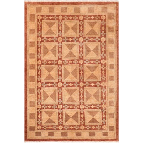 """Boho Chic Ziegler Talisha Hand Knotted Area Rug -5'10"""" x 8'10"""" - 5 ft. 10 in. X 8 ft. 10 in."""