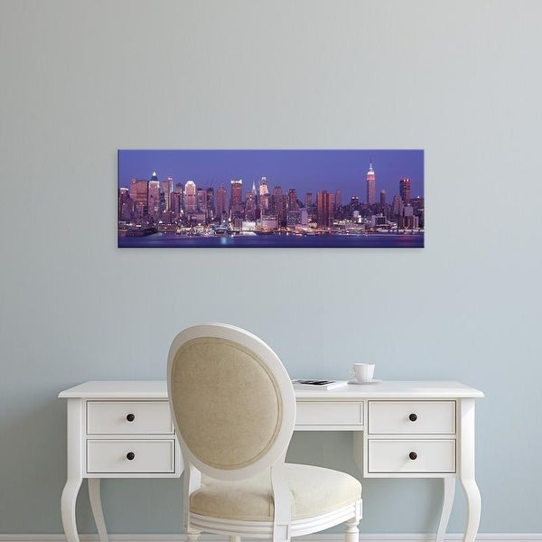 Easy Art Prints Panoramic Images's 'Dusk, West Side, NYC, New York City, US' Premium Canvas Art