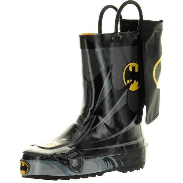 Western Chief Boys Kids Batman Everlasting Rain Boots - Black