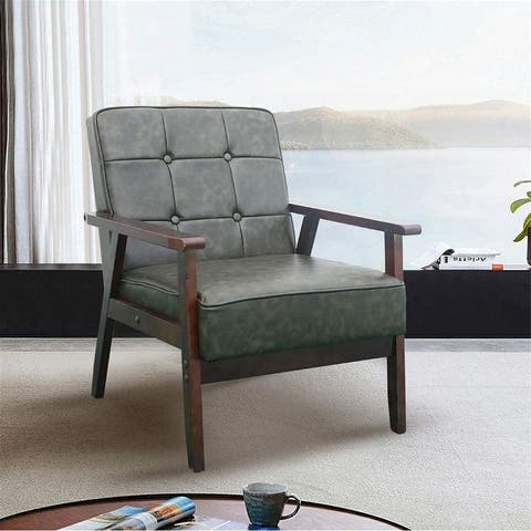 AOOLIVE Accent Wooden Chair,Single person leisure sofa In Living Room