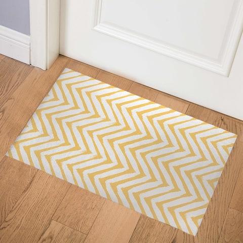 CAMBAY YELLOW Indoor Floor Mat by Kavka Designs